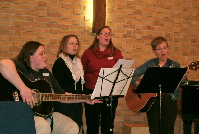 Grace-Echoing-Mercy (GEM) providing music at Crossroads Worship
