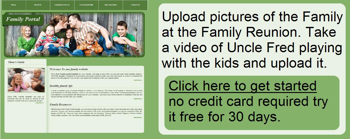 How To Build Family Reunion Websites - Easysite.com