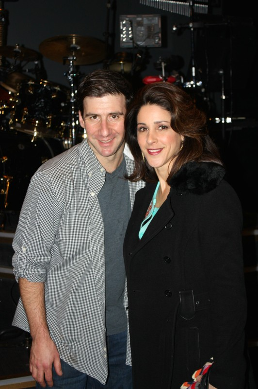 David and I on stage at the Nederlander Theatre!
