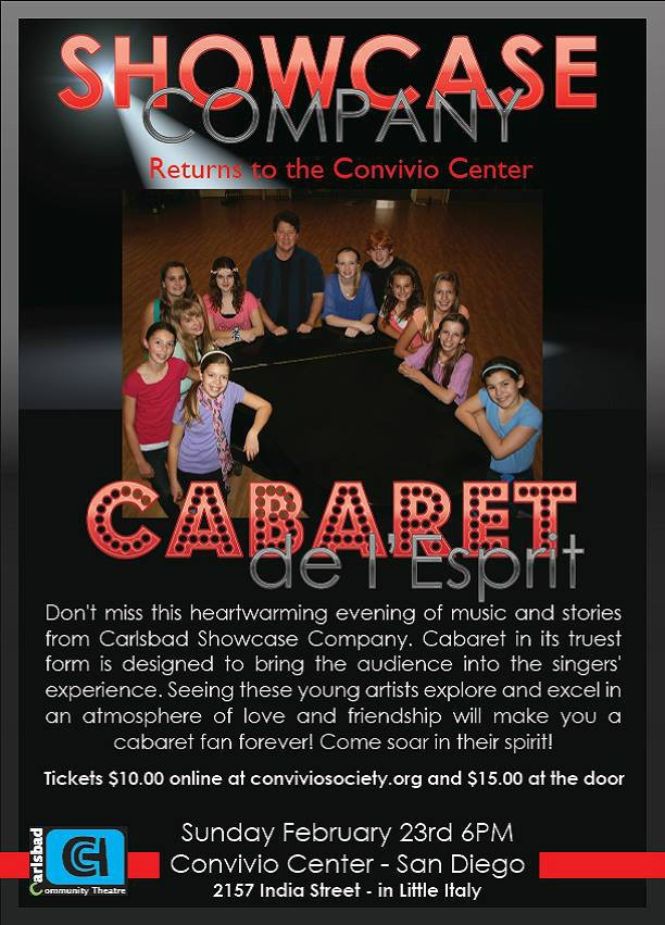Showcase performed Cabaret de l'Esprit in Feb. - click here and scroll down to see our review!  So proud of our kids!