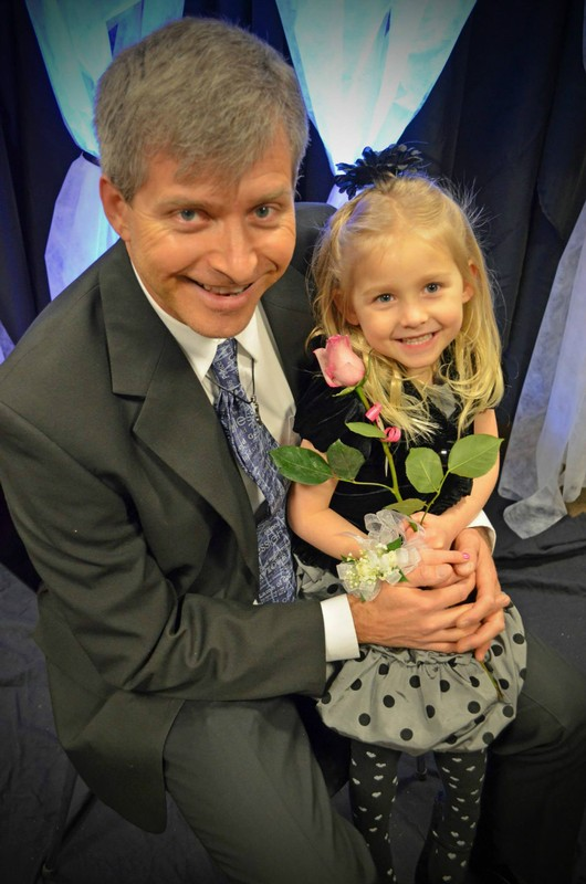 Rob and Charis at our church's Daddy-Daughter Dance last month