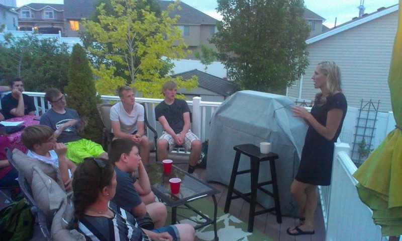 Tara shares with the Nebraska team