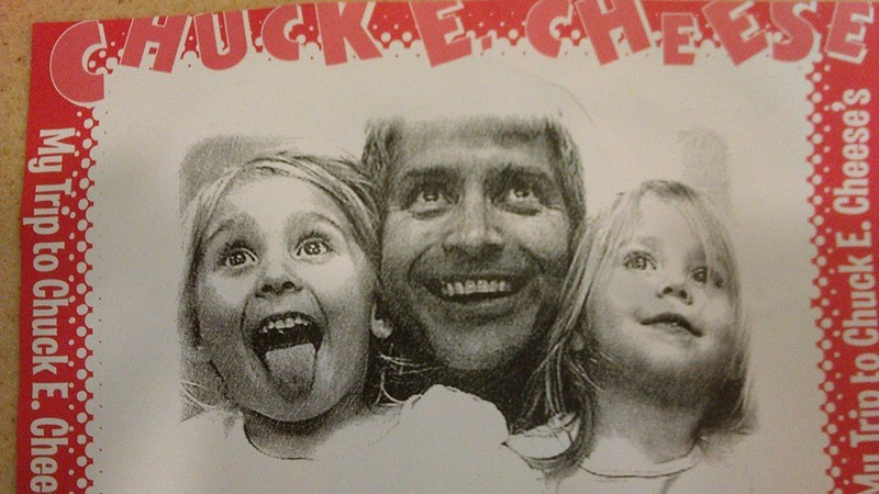 Daddy-Daughters Date at Chuck E. Cheese last month
