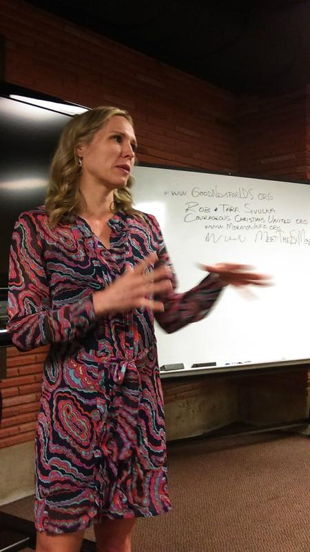 Tara shares at Tomball Bible