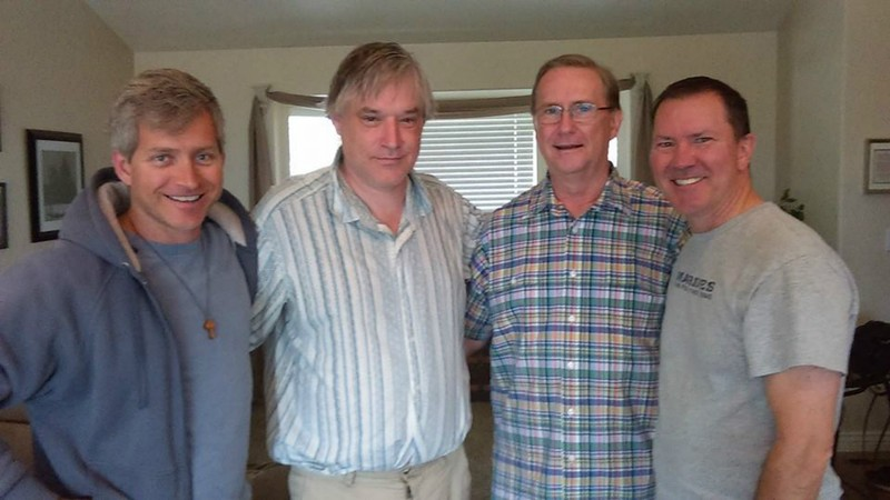 Big Wave Evangelists at Payson Temple Opening: (l to r) Rob, John Duncan, Timothy Oliver, and John Kauer