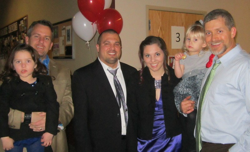 With my brother-in-law and Maddi's dad at our church's Daddy-Daughter Dance last month