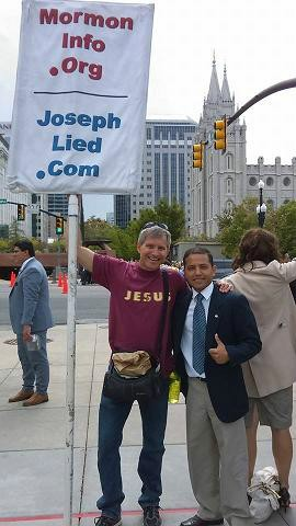 Rob with Milton--an LDS guy from Venzuela who wanted his picture with him.