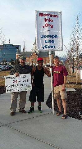 Bob Pilch, Dan, and Rob outside the Provo Center Temple
