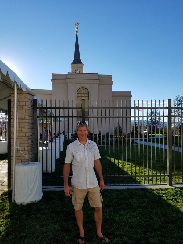 Rob outside the Star Valley LDS Temple