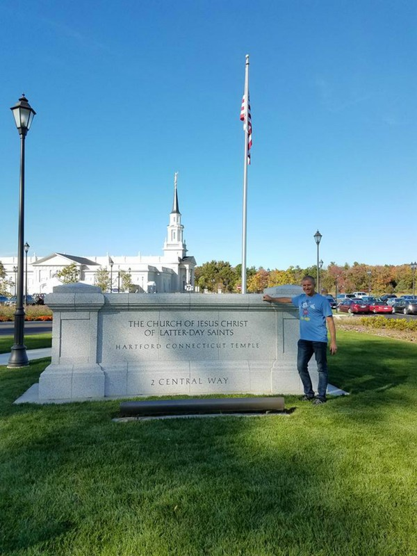Rob at new Hartford Temple