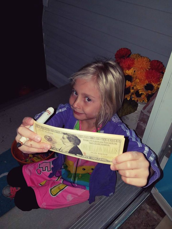 Charis with the Joseph Smith million dollar bill