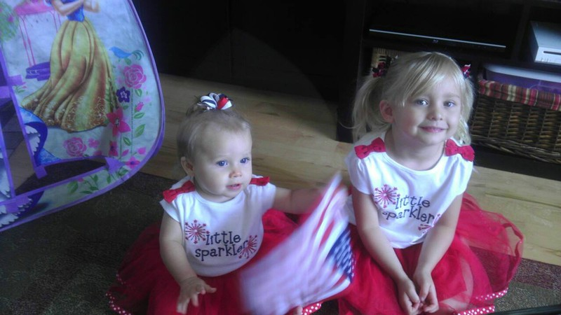 Zoe and Charis dressed to celebrate the 4th