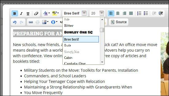 Webpage Editor
