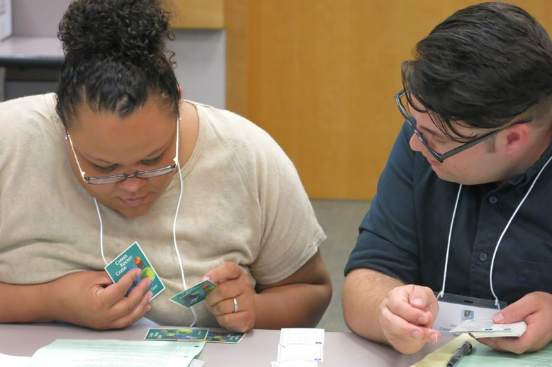 CDF students participate in a learning activity that can be used with clients.