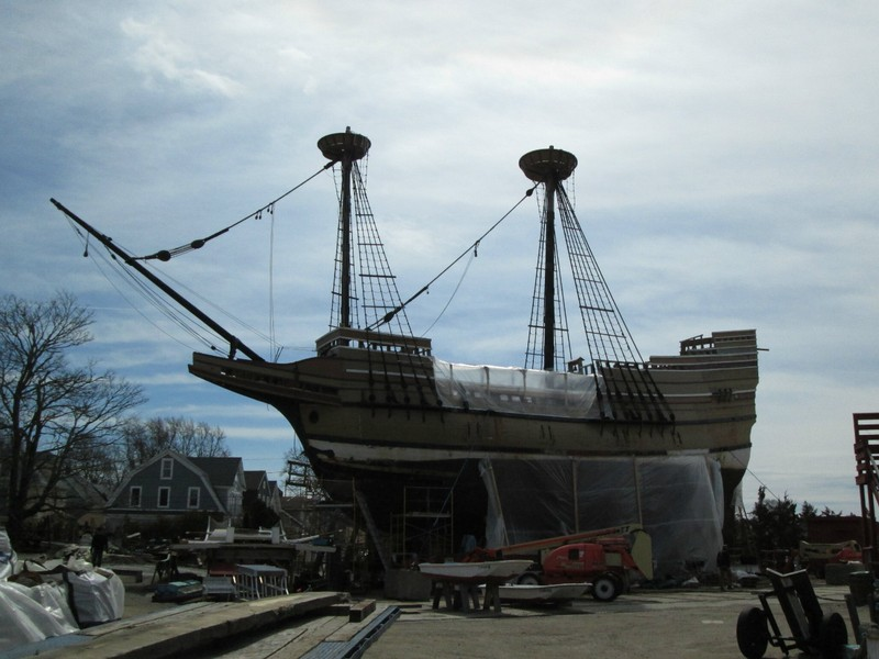 Mayflower II - dry docked in Mystic