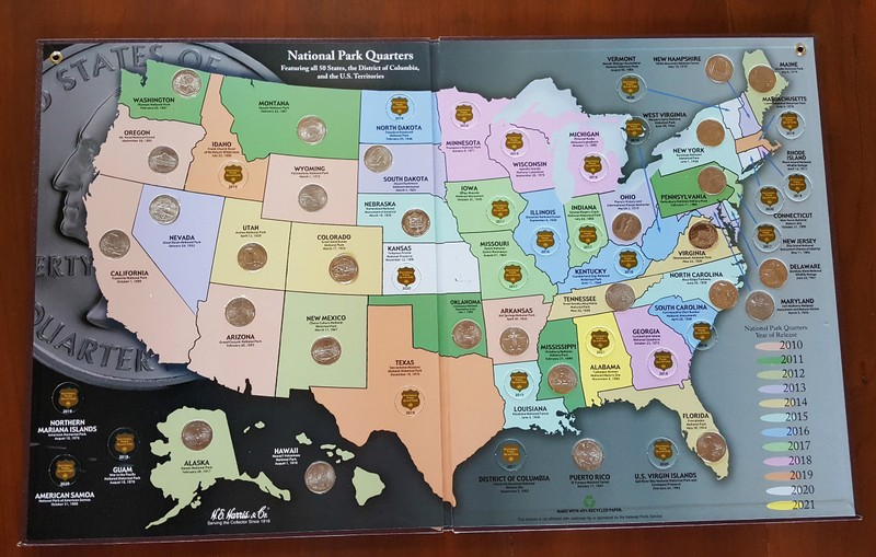 Our EDventures Blog Tips For Collecting America The - Us map for collecting quarters