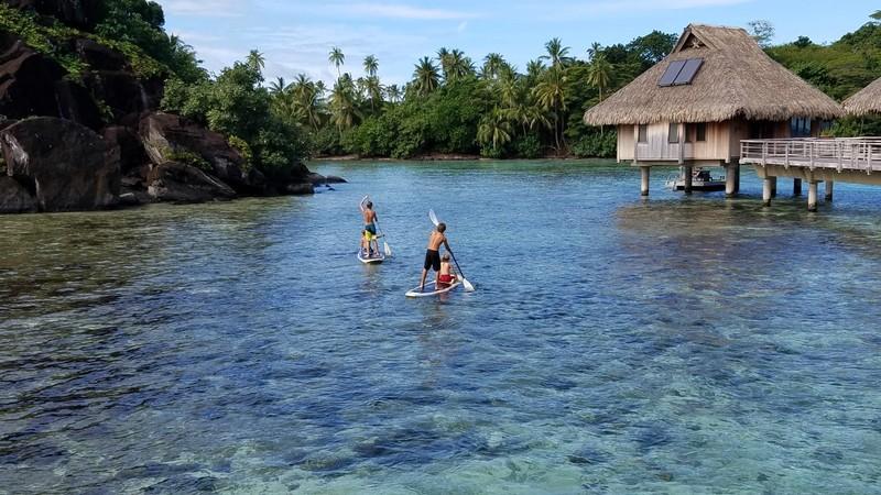 Stand-up Paddle Boarding in Bora Bora