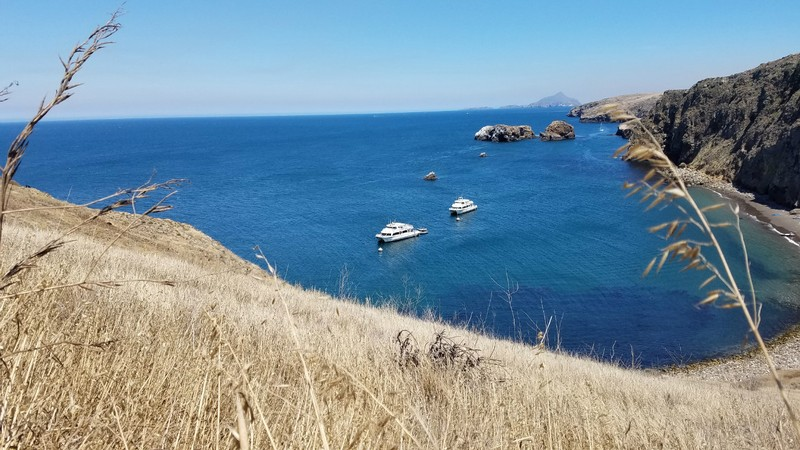 The view from Santa Cruz Island