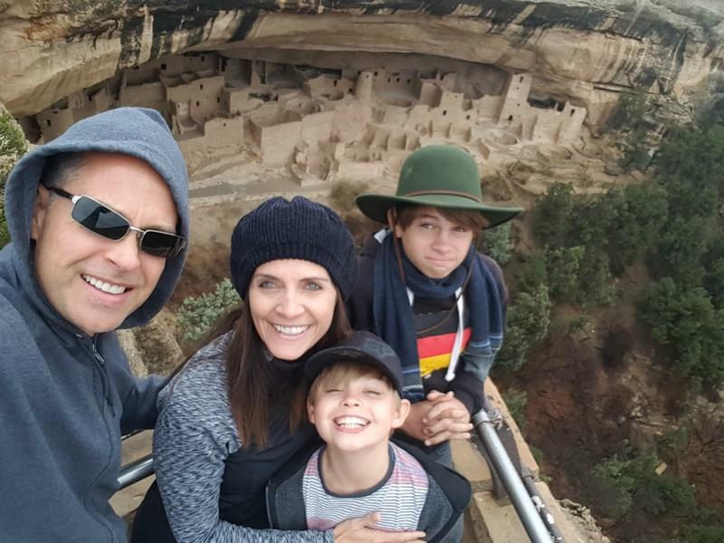 The family shot at Mesa Verde!