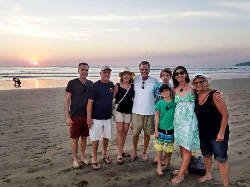 Our family picture at sunset - 3 generations!
