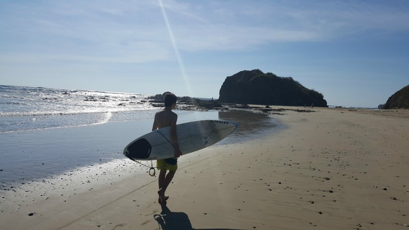 Surfing in Grande Playa