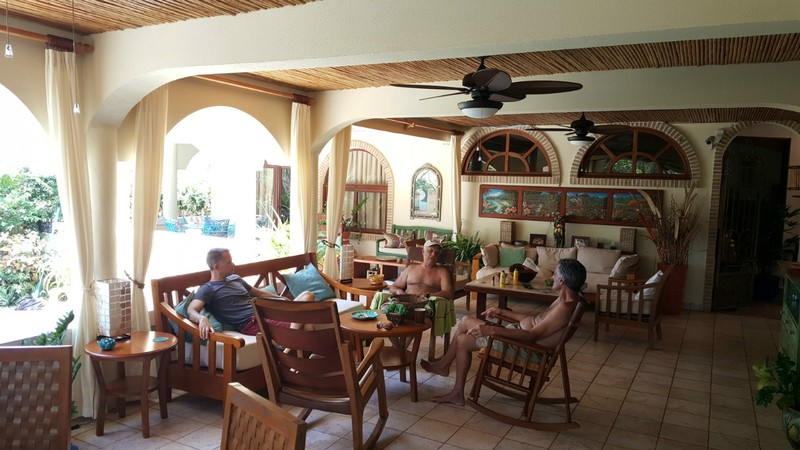 We loved the outdoor living room in Costa Rica - a great place for our extended family to hang out together