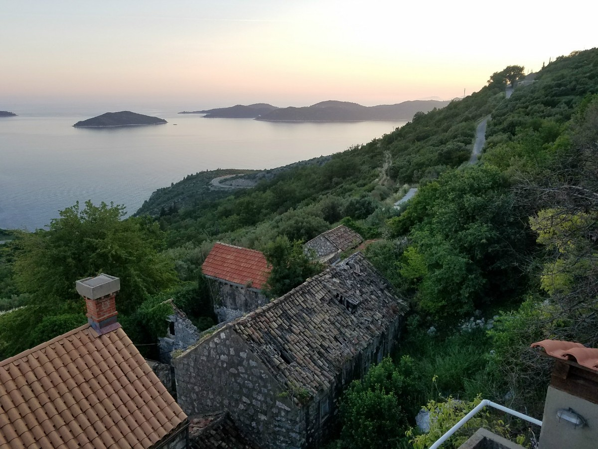 The view from our villa outside of Dubrovnik, Croatia.