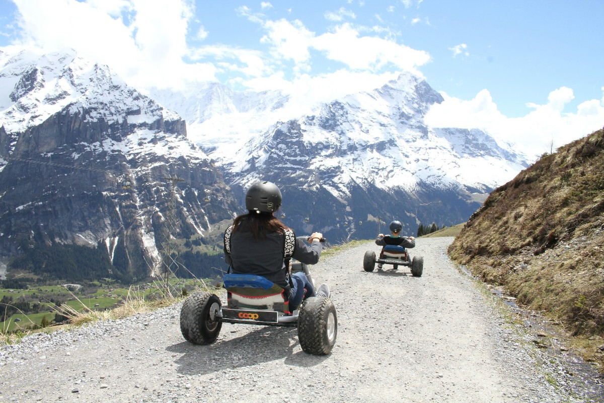 Mountain carts in Switzerland