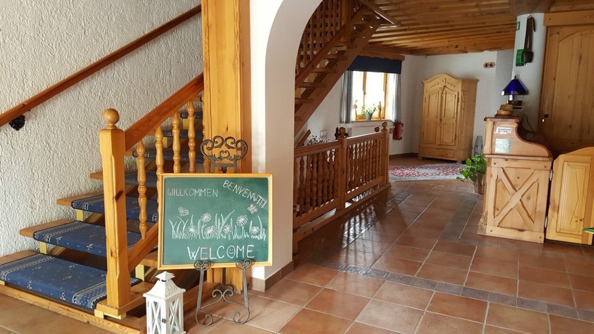 Welcoming entrance at Garni Hotel Berc