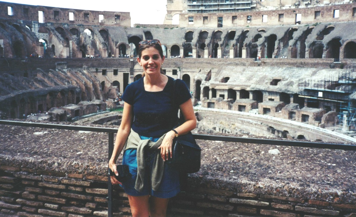 Back in 1998 - a trip to Rome for this young teacher!