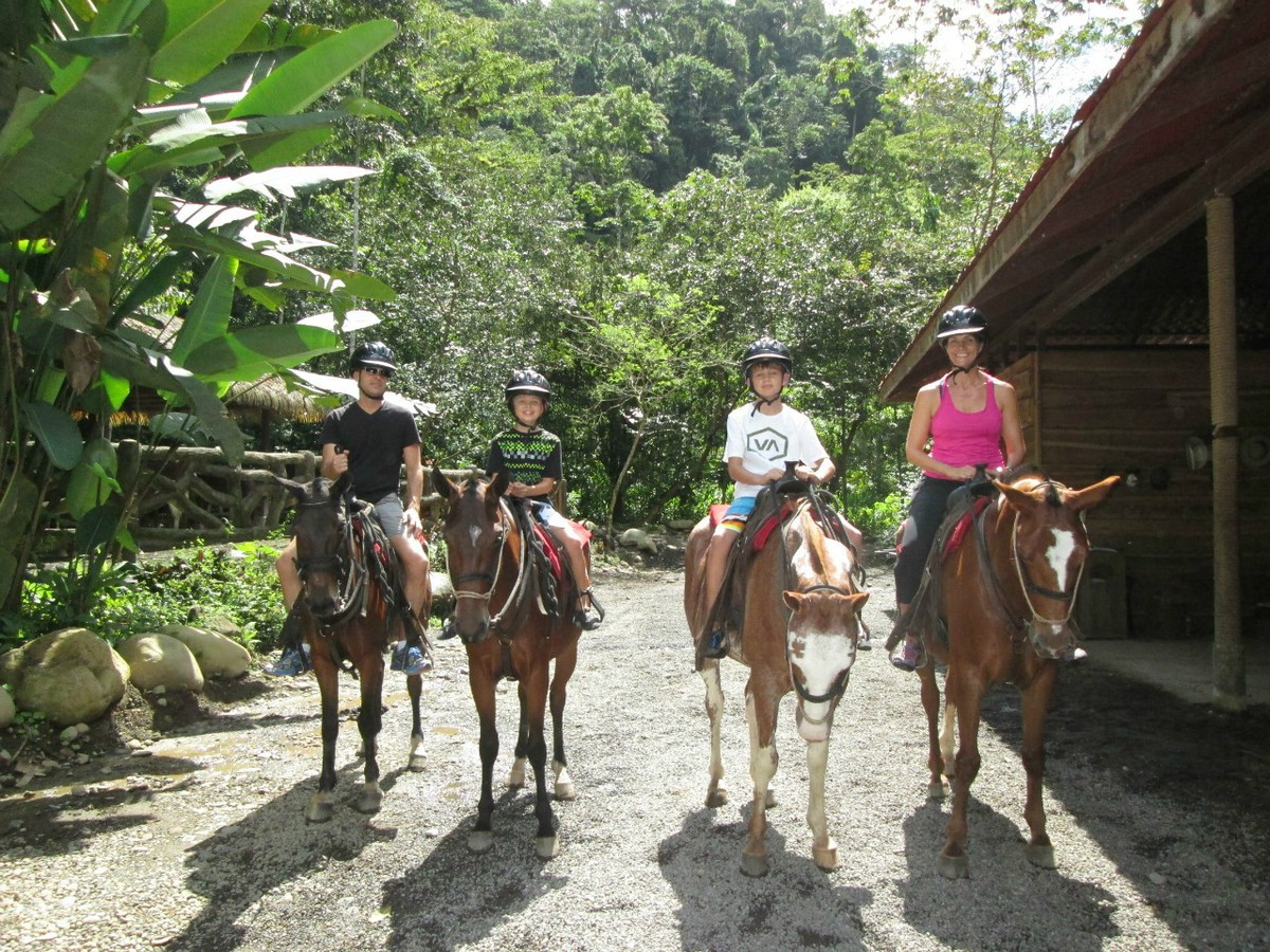 Riding horses in Costa Rica