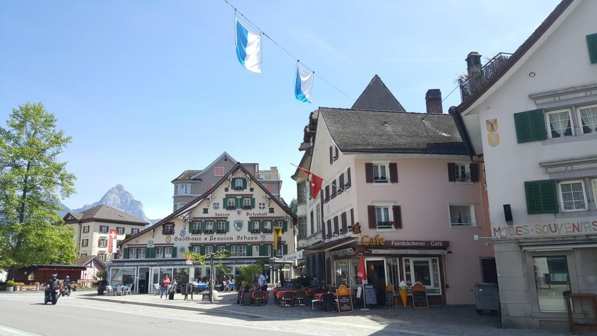 The quaint town of Brunnen, Switzerland