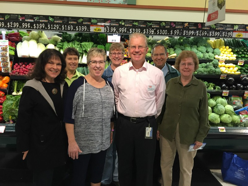 Front and Center is Kevin Armstrong, manager of Family Fare - all the others are Eleanor's Pantry Board Members.