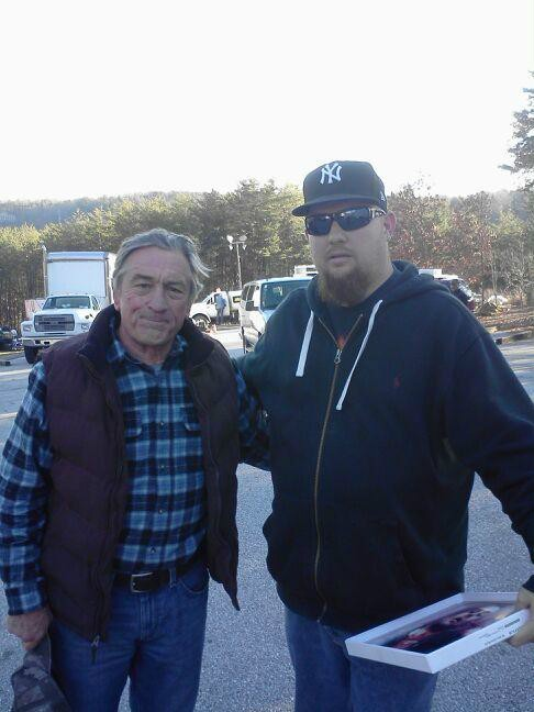 Drew with Robert DeNiro