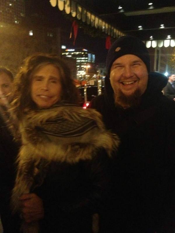 Drew with Steven Tyler