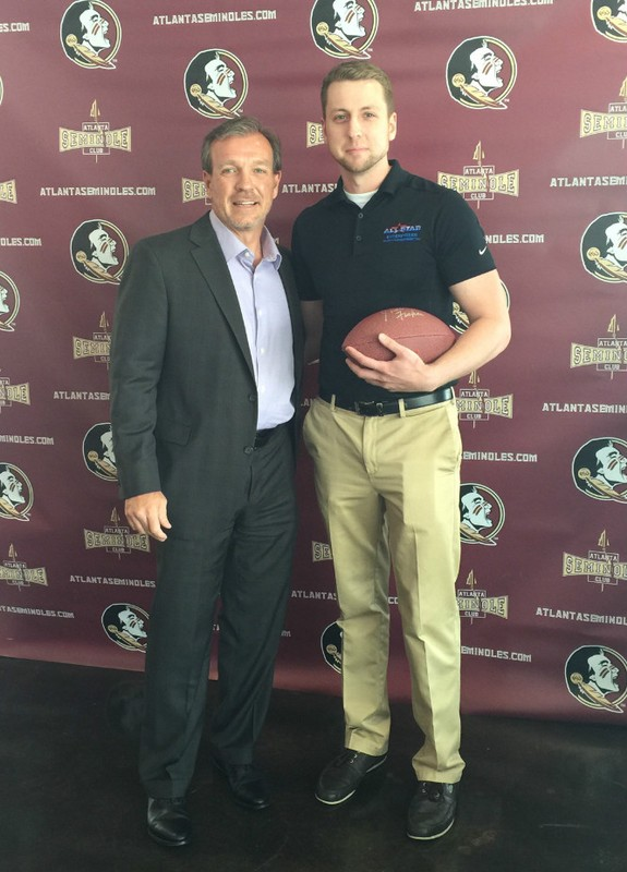 Tyler with Jimbo Fisher