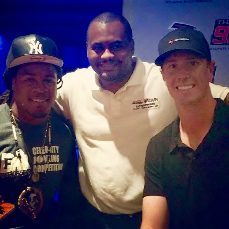 Quentin With Devonta Freeman & Matt Ryan