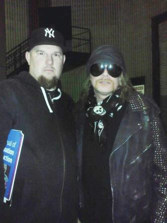Drew with Axl Rose from GUNS N ROSES