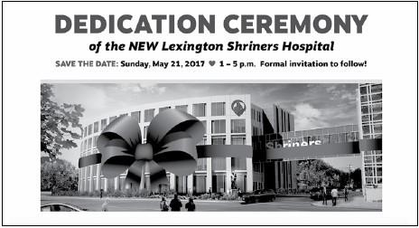 Lexington Hospital Dedication