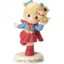 "Love To The Rescue®"" Bisque Porcelain Sculpture"
