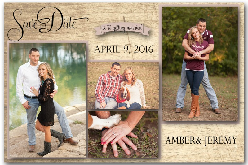 Save the Date Magnet Wooden (4 photos)