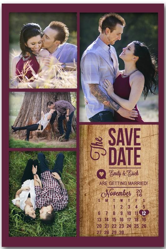 Save the Date Magnet Calendar (4 photos)