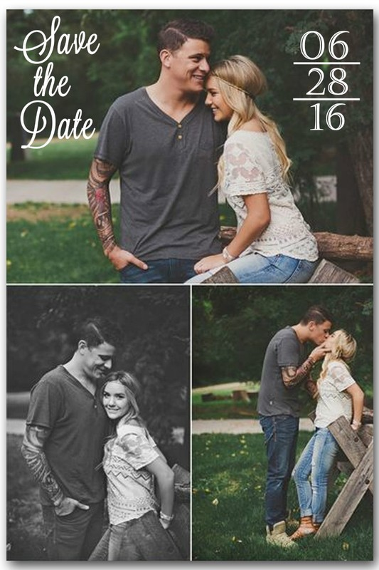 Save the Date Magnet (3 photos)