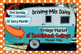 Next Driving Miz Daisy Vintage Market will be February 12, 2017.  As always, we will be in Space A6.  For more details please visit DrivingMizDaisy.com.