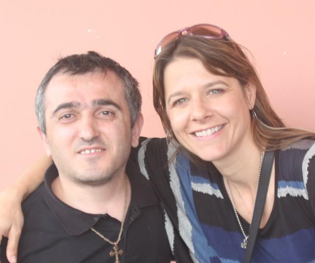 Davit (resident) with Bridget