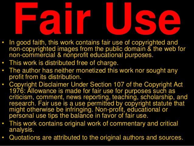 Texas Biker Radio Fair Use Notice