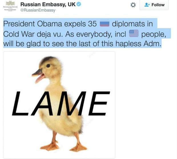 Russian Embessy Tweet