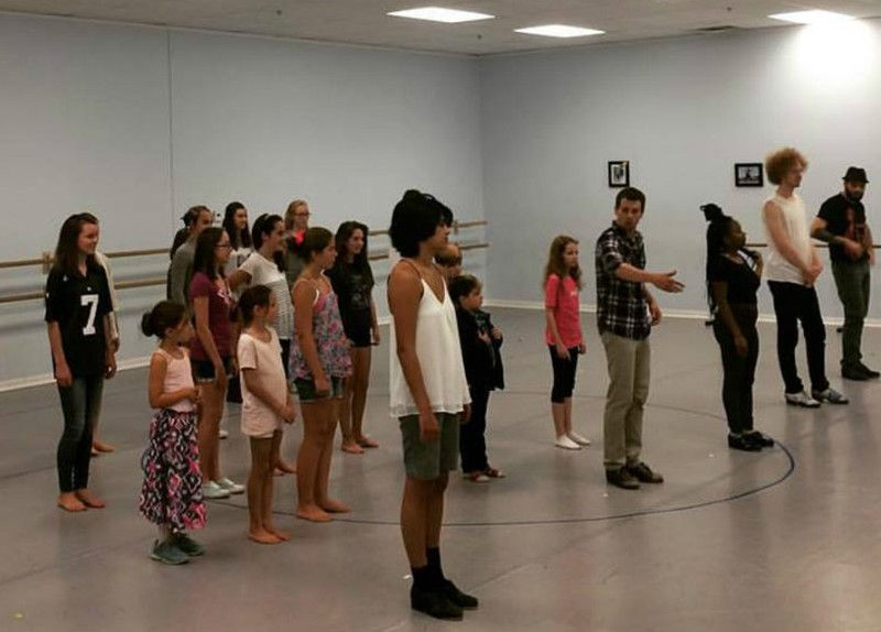 Tristan Bruns teaches the Shim Sham at Principle Dance 8/2015.