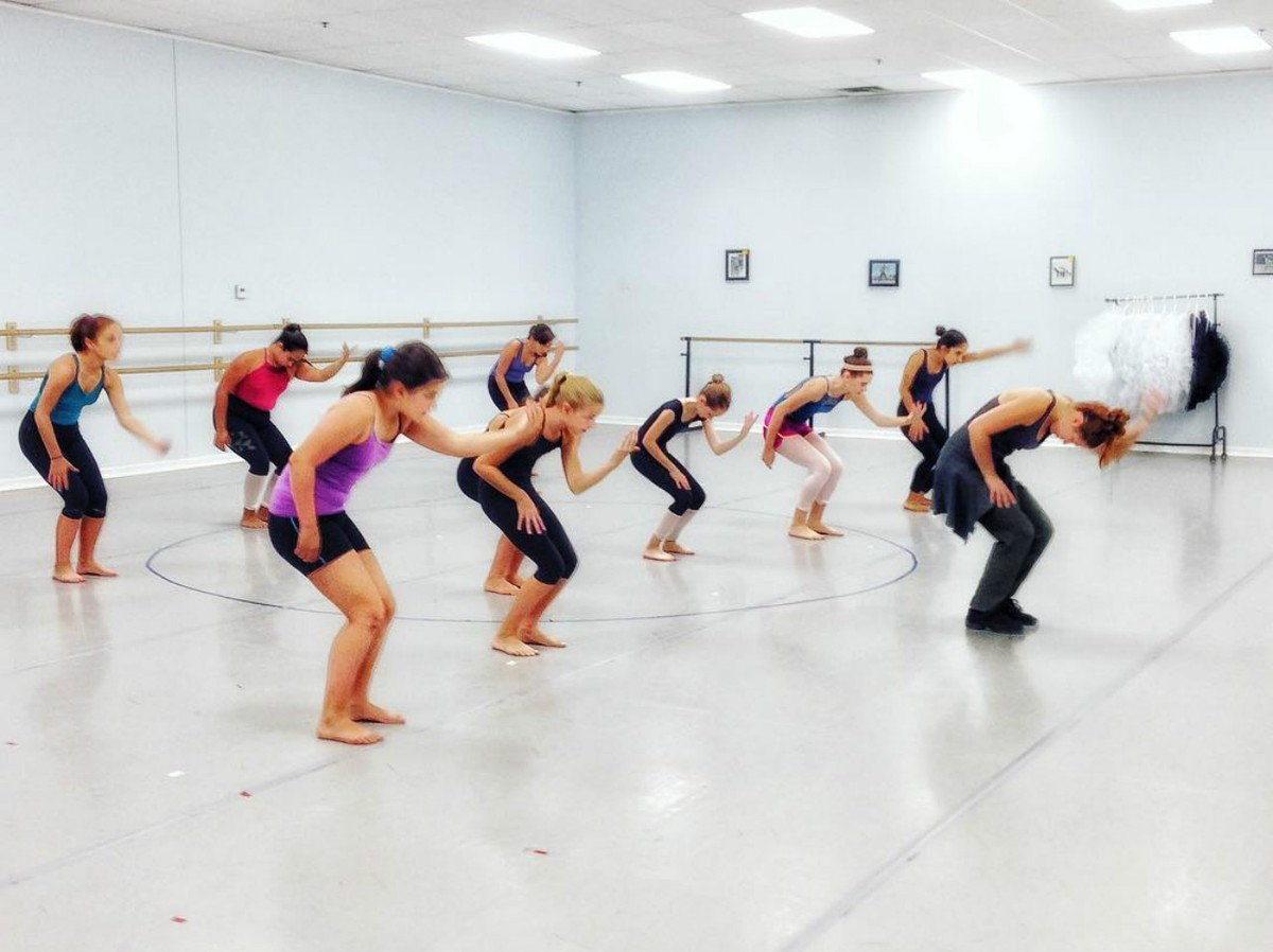 Principle Dance students learning from Carson Reiners.