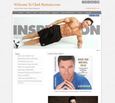 This is a get fit website built by mike